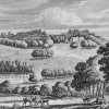 THIS VIEW OF WERRINGTON PARK insc to HUGH PERCY DUKE OF NORTHUMBERLAND by CS GILBERT; crest